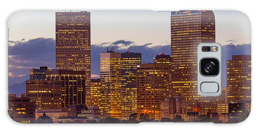 Denver Galaxy S8 Case featuring the photograph City Glow by Rick Machle