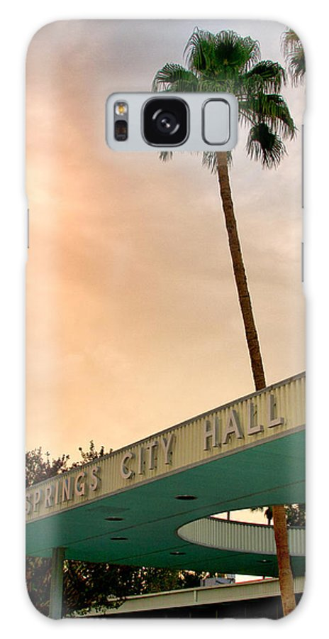 Palm Springs Galaxy S8 Case featuring the photograph City Hall Sky Palm Springs City Hall by William Dey