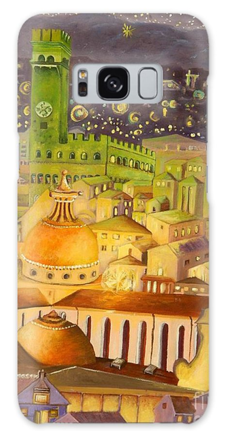 Venice Galaxy S8 Case featuring the painting City Light Star Light by Caroline Street
