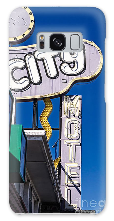 Motel Galaxy S8 Case featuring the photograph City Motel Las Vegas by Edward Fielding