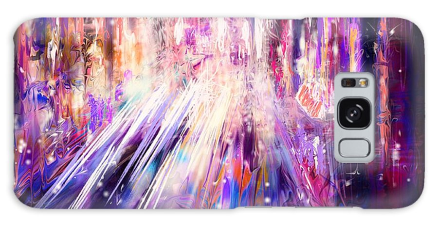 Abstract Galaxy S8 Case featuring the digital art City Nights City Lights by Rachel Christine Nowicki
