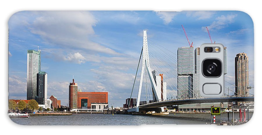 Rotterdam Galaxy S8 Case featuring the photograph City Of Rotterdam Cityscape In Netherlands by Artur Bogacki