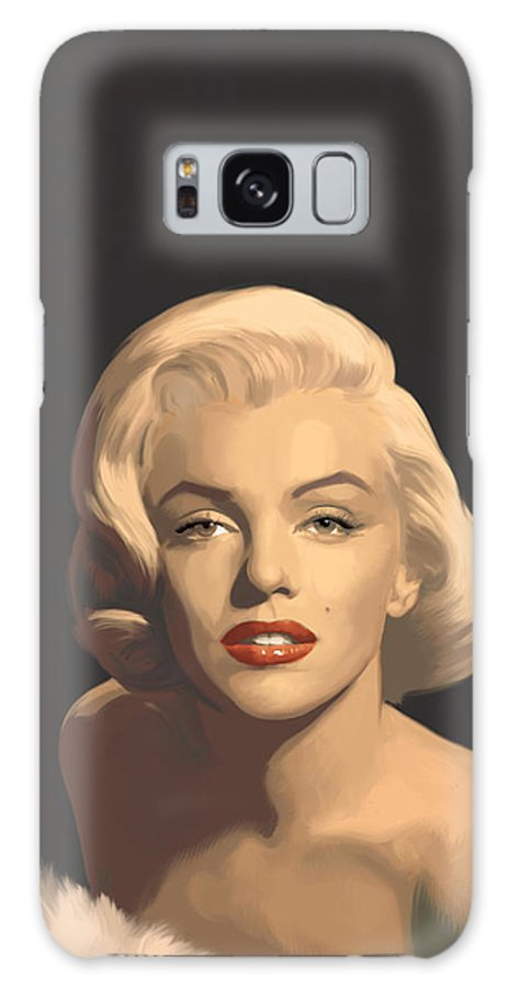Marilyn Galaxy Case featuring the painting Classic Beauty In Graphic Gray by Chris Consani
