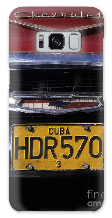 Cuba Galaxy S8 Case featuring the photograph Classic Chevy In Cuba by James Brunker