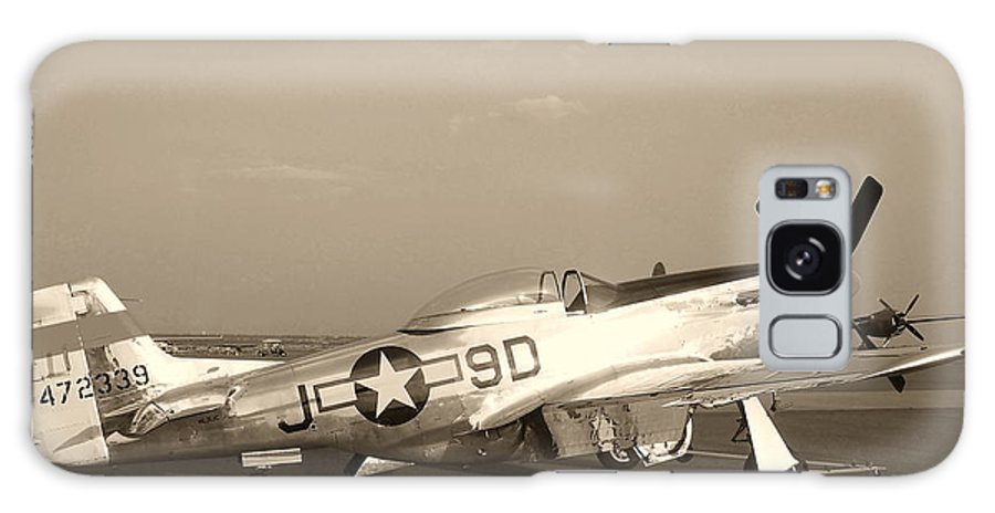 Aircraft Galaxy S8 Case featuring the photograph Classic P-51 Mustang Fighter Plane by Amy McDaniel