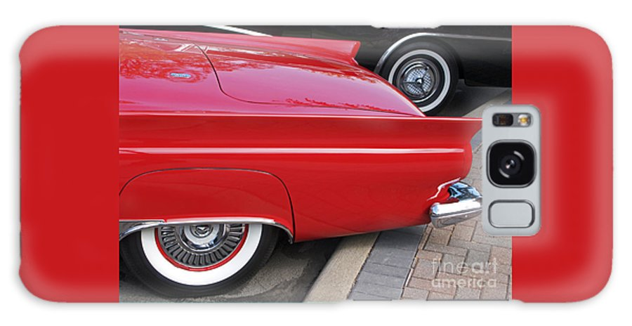 Classic Car Galaxy S8 Case featuring the photograph Classic Red And Black by Ann Horn