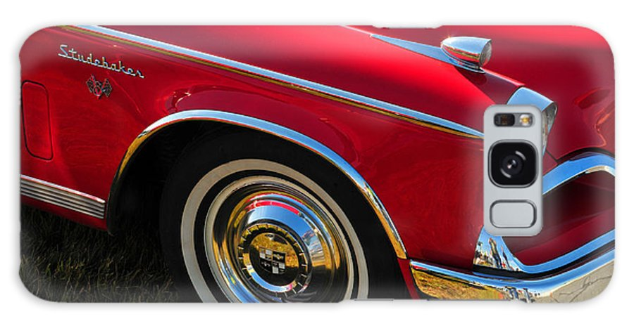 Car Galaxy S8 Case featuring the photograph Classic Red Studebaker by Mike Martin