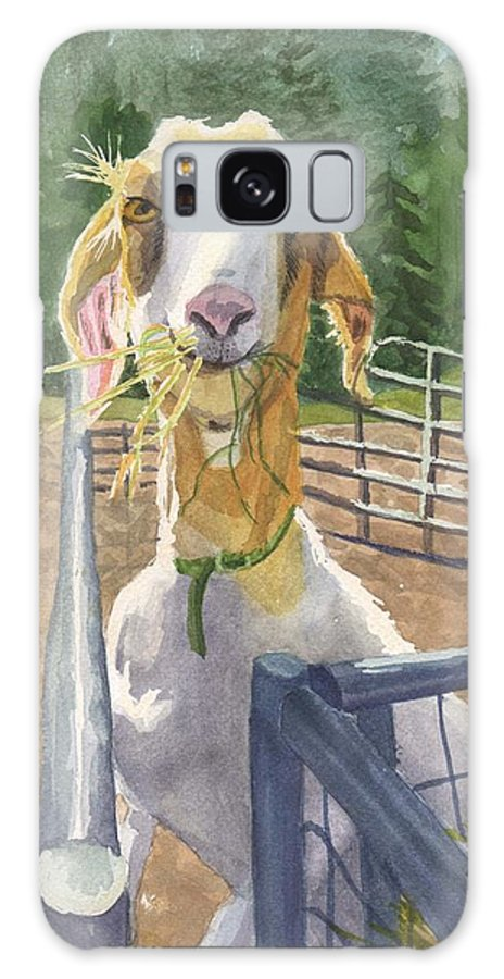 Goat Galaxy Case featuring the painting Claudette's Snack by Sharon E Allen