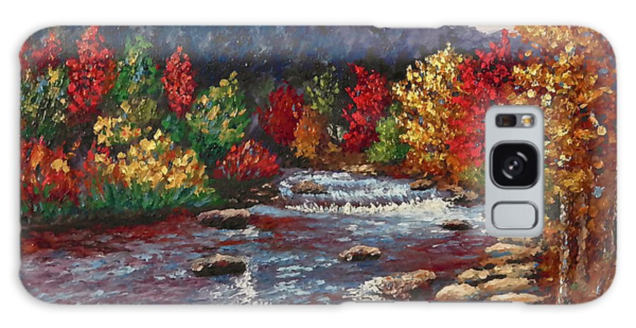 Landscape Galaxy S8 Case featuring the painting Clear Creek In Golden Colorado by Francesca Kee