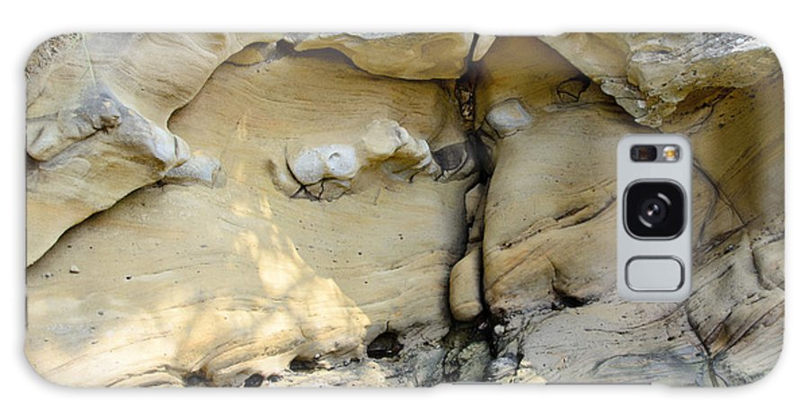 Sandstone Galaxy S8 Case featuring the photograph Cleavage by Bob VonDrachek