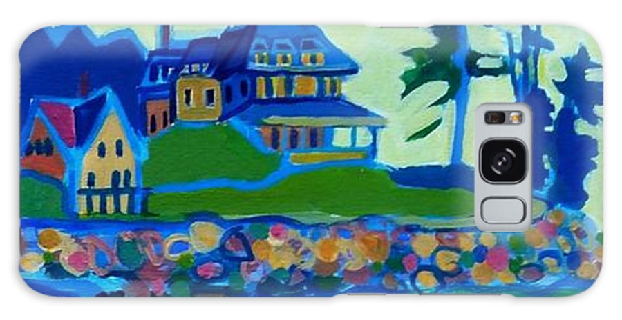 Beach Galaxy Case featuring the painting Cliff House near Hampton Beach NH by Debra Bretton Robinson