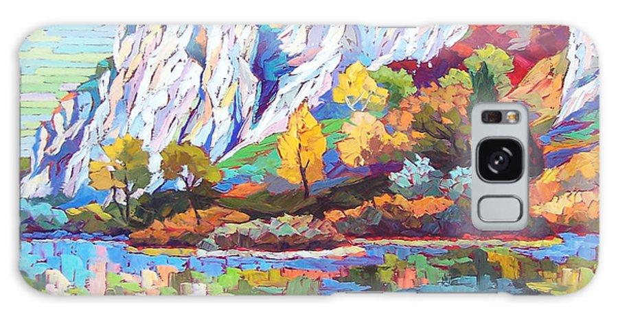 Landscape Galaxy S8 Case featuring the painting Cliff Landscape by Elizabeth Elkin