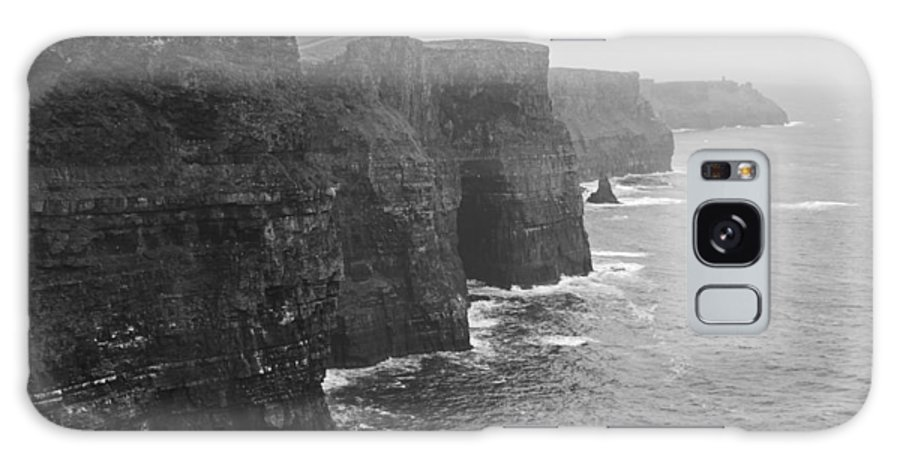 Dublin Galaxy S8 Case featuring the photograph Cliff Of Moher Ireland Bw by Joseph Semary