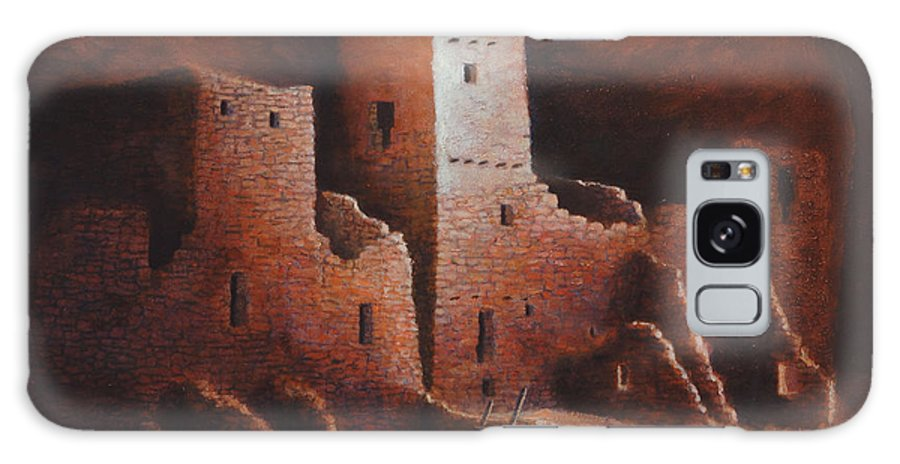 Anasazi Galaxy S8 Case featuring the painting Cliff Palace by Jerry McElroy
