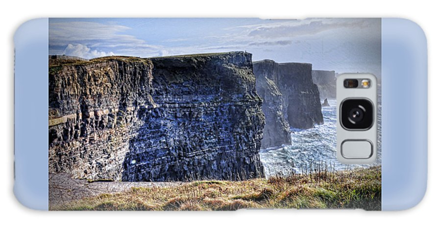 Ireland Galaxy S8 Case featuring the photograph Cliffs Of Moher - Late Afternoon by Linda Clifford