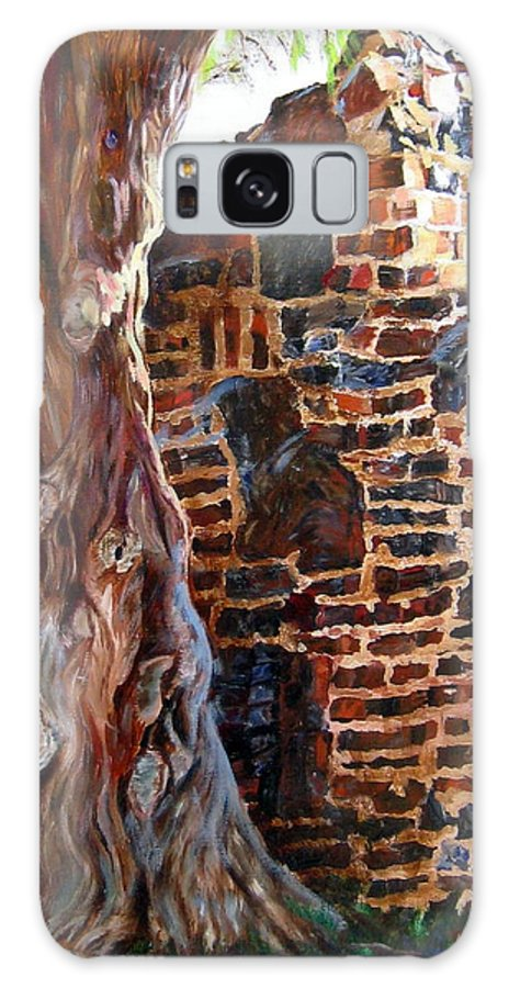 Wall Galaxy S8 Case featuring the painting Clinker Wall by LaVonne Hand