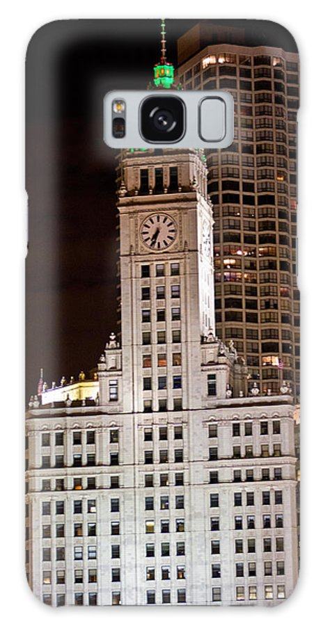 Chicago Galaxy S8 Case featuring the photograph Clock Tower In Chicago by John McGraw