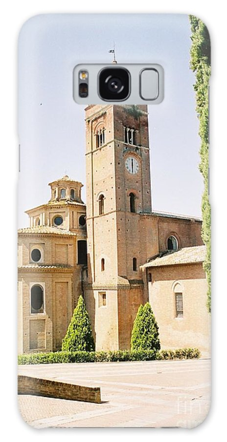 Cloister Galaxy S8 Case featuring the photograph Cloister Monte Oliveto Maggiore by Christiane Schulze Art And Photography