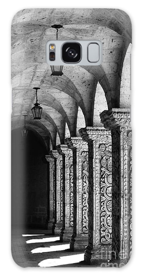 Peru Galaxy S8 Case featuring the photograph Cloisters In Arequipa Peru by James Brunker