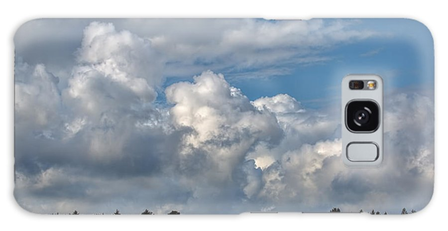 Cloud Scape Sep 2014 Galaxy S8 Case featuring the photograph cloud scape sep 2014- Blue sky and clouds by Leif Sohlman