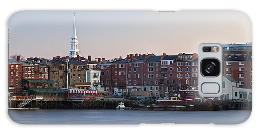 Portsmouth Galaxy S8 Case featuring the photograph Cloudless Portsmouth Skyline by Eric Gendron
