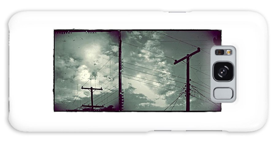 Powerline Galaxy S8 Case featuring the photograph Clouds And Power Lines by Patricia Strand