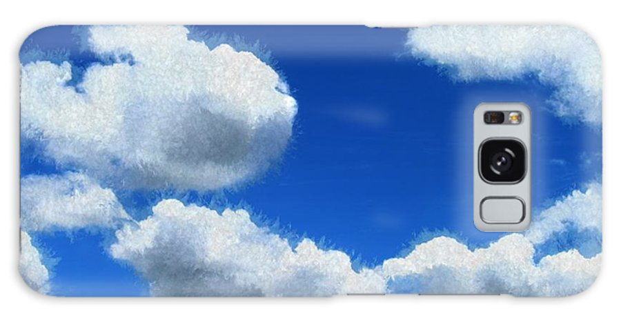Clouds Galaxy S8 Case featuring the painting Clouds In A Blue Sky by Bruce Nutting