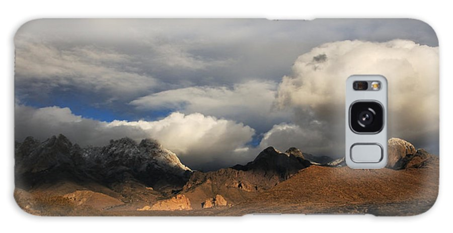 Las Cruces Galaxy S8 Case featuring the photograph Clouds Over The Organ Mountains by Vivian Christopher