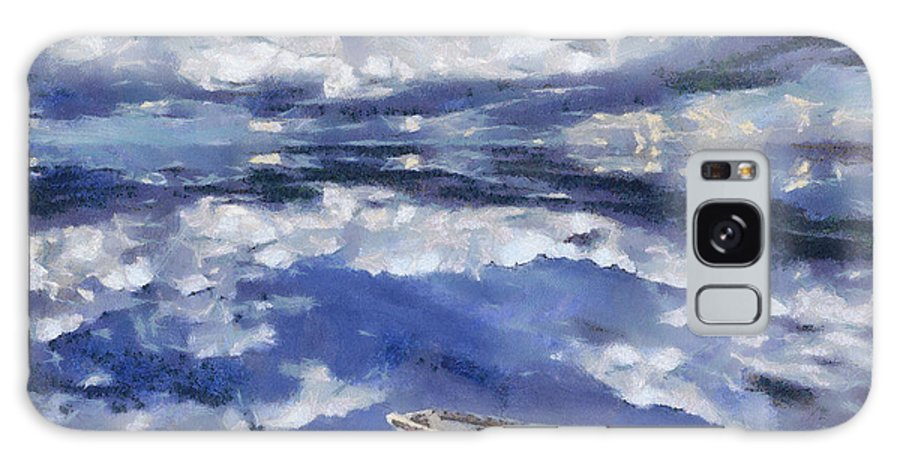 Clouds Reflection Galaxy S8 Case featuring the painting Clouds Reflection by Georgi Dimitrov