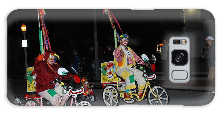 Edison Parade Of Lights 2013 Galaxy S8 Case featuring the photograph Clowns On Bikes by Robert Floyd