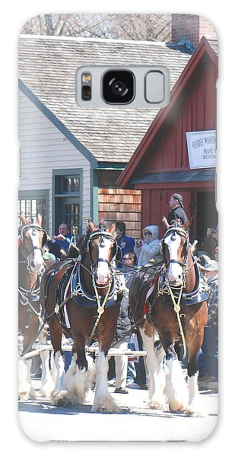 Budweiser Clydesdales Galaxy S8 Case featuring the photograph Clydesdales In Mystic by Amy Porter