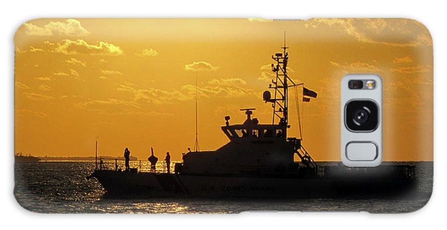 Sky Galaxy S8 Case featuring the photograph Coast Guard In Paradise - Key West by Bob Slitzan