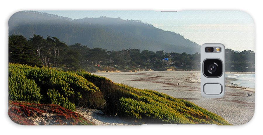 Coast Galaxy S8 Case featuring the photograph Coastal View - Ice Plant II by Suzanne Gaff