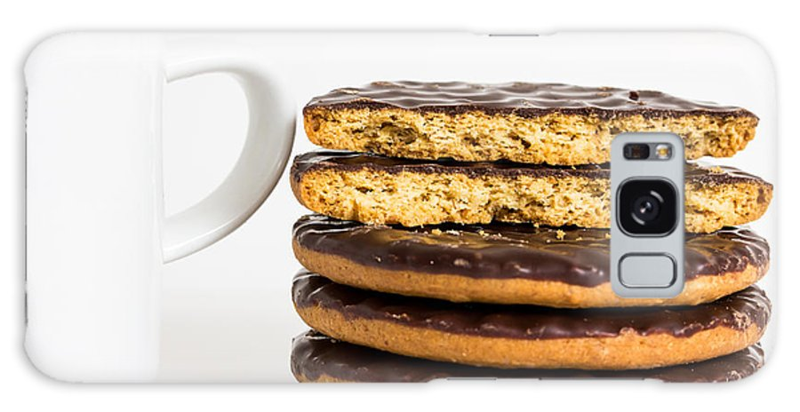 Coffee Galaxy S8 Case featuring the photograph Coffee And Cookies. by Gary Gillette