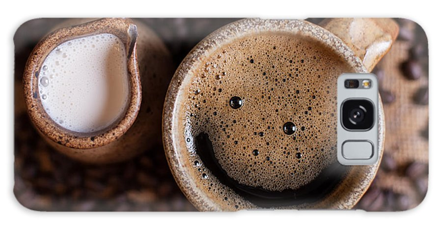Smile Galaxy S8 Case featuring the photograph Coffee With A Smile by Aaron Aldrich