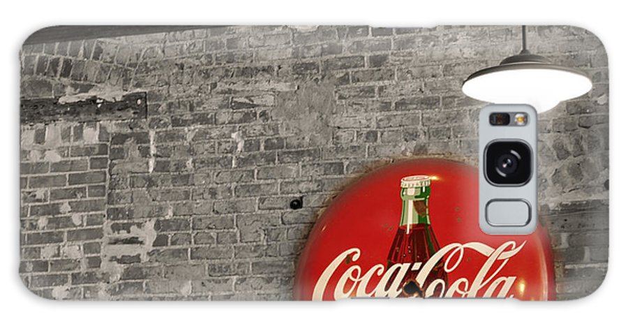 Inside Galaxy S8 Case featuring the photograph Coke Cola Sign by Paulette B Wright