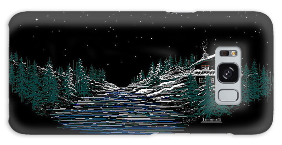 Cold Mountain Winter Galaxy S8 Case featuring the digital art Cold Mountain Winter by Larry Lehman