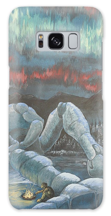 Giant Galaxy S8 Case featuring the painting Cold Night by Amanda Ellis