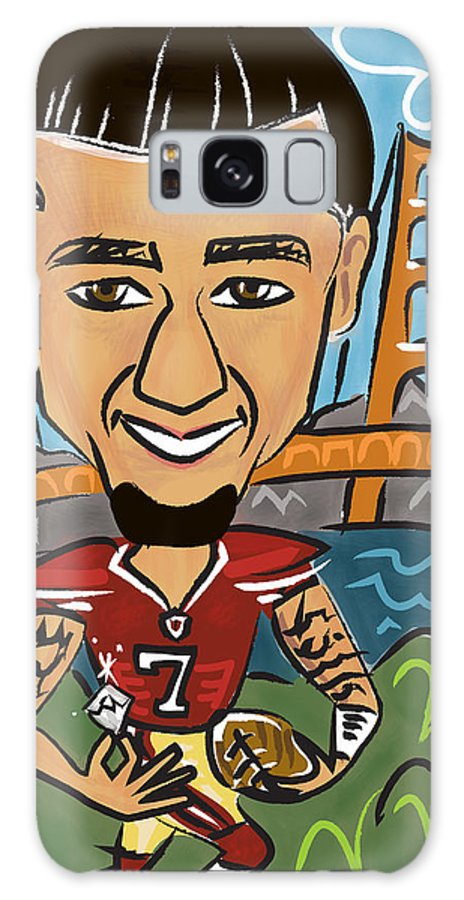 Digital Galaxy S8 Case featuring the digital art Colin Kaepernick - Achievement by Micheleh Center