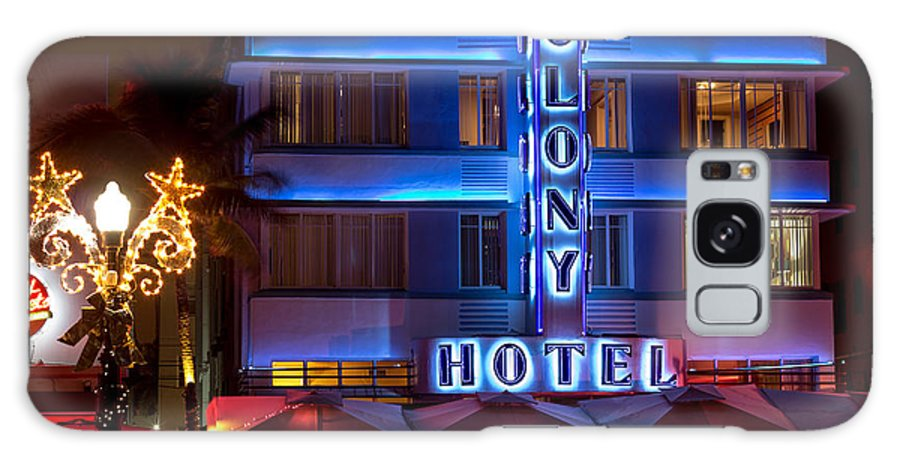 Art Deco Galaxy S8 Case featuring the photograph Colony Hotel South Beach by Rene Triay Photography