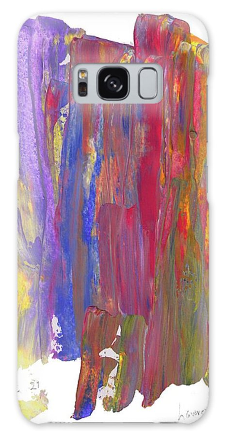 Abstract Galaxy S8 Case featuring the painting Color Mix 21 by Lawrence Nusbaum