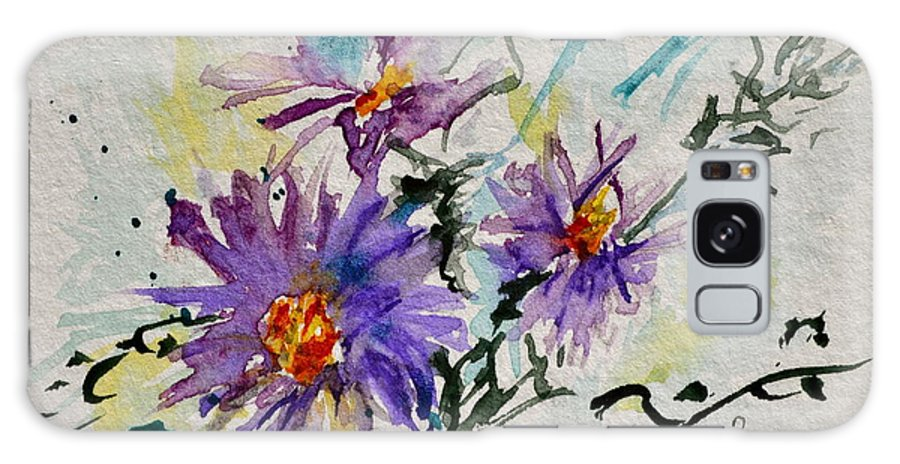 Aster Galaxy S8 Case featuring the painting Colorado Asters by Beverley Harper Tinsley