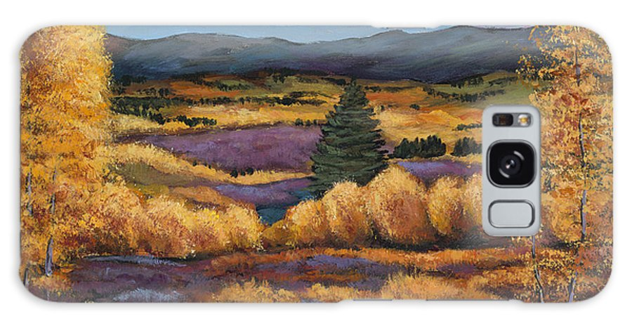 Autumn Aspen Galaxy Case featuring the painting Colorado by Johnathan Harris