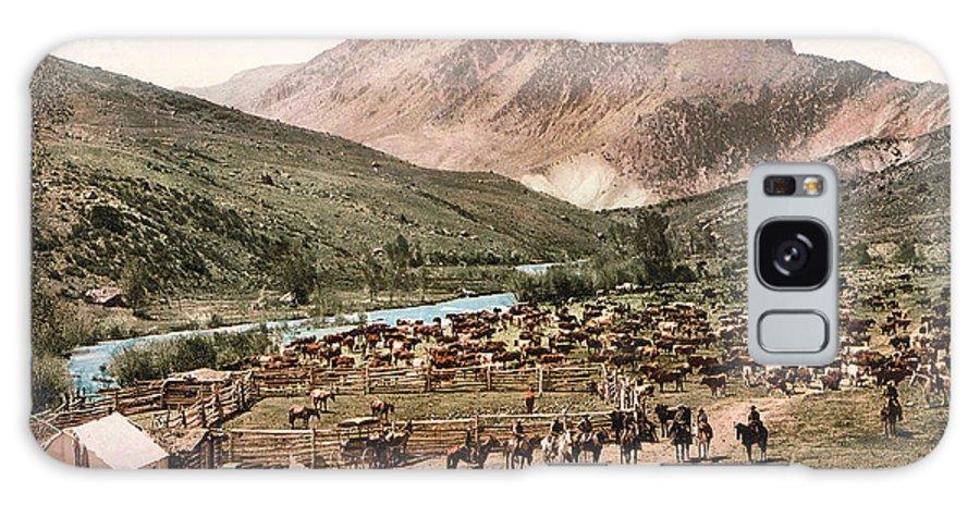 Colorado Roundup 1897 Galaxy S8 Case featuring the digital art Colorado Roundup 1897 by Unknown