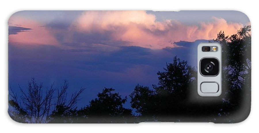 What Little Sun Was Visible Over The Rockies During A Summer Sunset Galaxy Case featuring the photograph Colorado Storm Clouds by Adrienne Petterson