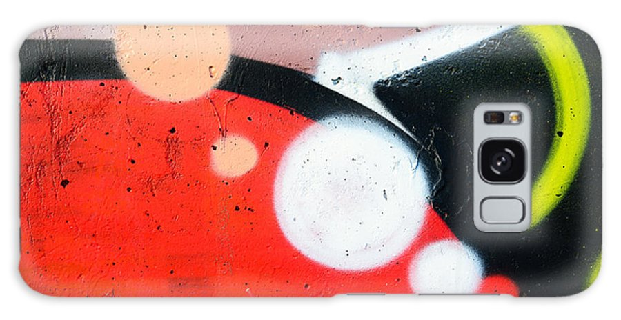 Abstract Galaxy S8 Case featuring the photograph Colored Texture Detail by Alain De Maximy