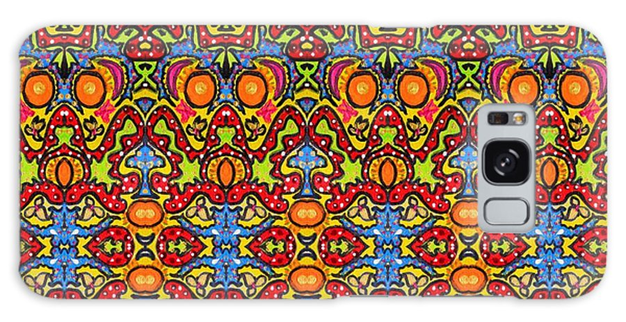 Ethnic Galaxy S8 Case featuring the painting Colorful Folklore Pattern by Julia Fine Art And Photography