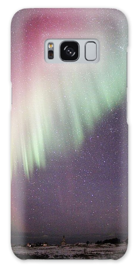 Norway Galaxy S8 Case featuring the photograph Colorful Nordic Winter Night by David Broome