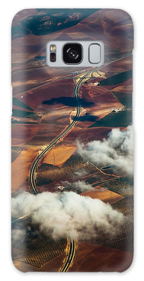 Spain Galaxy S8 Case featuring the photograph Colorful Patchwork Of Andalusian Fields 1. Spain by Jenny Rainbow