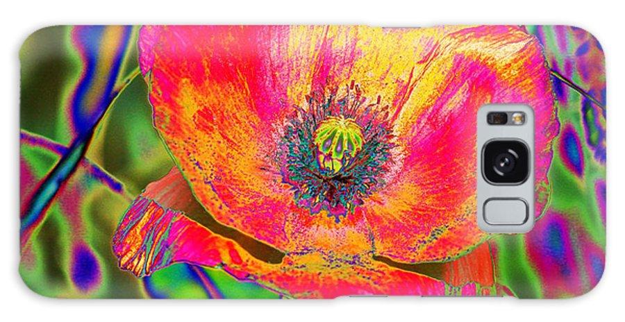 Poppy Galaxy S8 Case featuring the digital art Colorful Poppy by Carol Lynch
